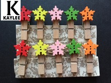 150pcs Colorful Spring Wood Clips Clothes Photo Paper Peg Wooden Craft Clips for Christmas Party Souvenirs Gift Favor