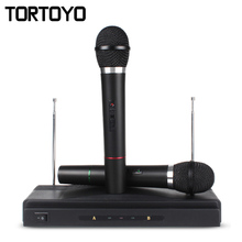 A Pair Professional HIFI Wireless Handheld 1 to 2 6.35mm Jack Microphone Karaoke Home KTV Conference Microphones with Receiver