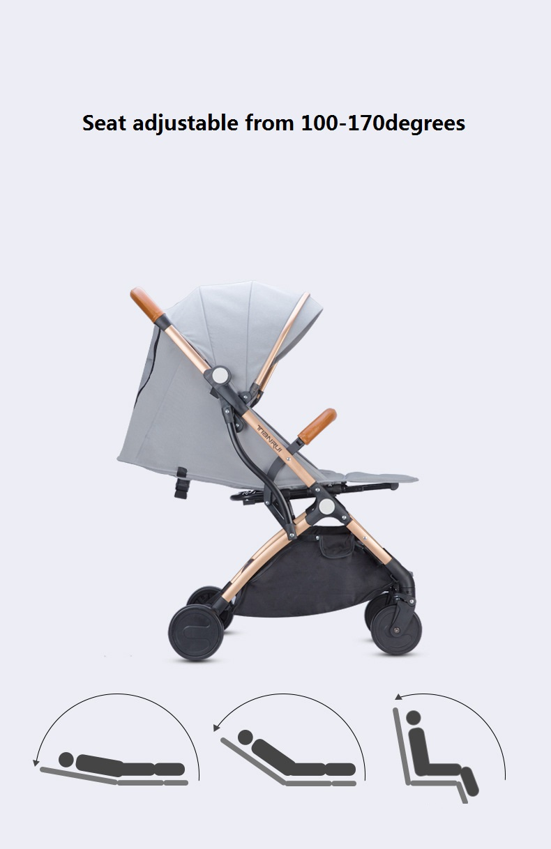 Mini Baby Stroller Portable Folding Pram Light Baby Carriage