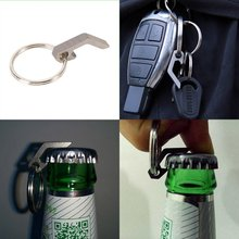 New Arrivals EDC Gear Functional Titanium Mini Bottle Opener Outdoor Camping Hiking Key Ring Tool Wholesale Price FS(China)
