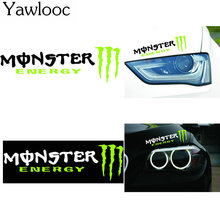 Yawlooc 1 PC Cool Monster Light Brow Stickers Car styling Covers Accessories Motorcycles Wall Decals Reflective Vinyl Styling