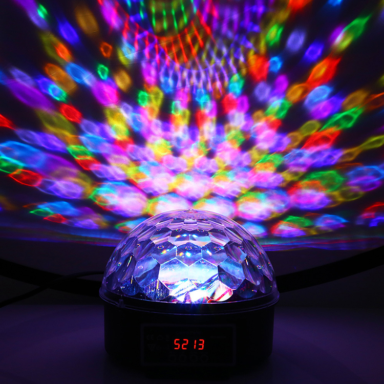 DMX512 RGB Premium Sound Control Stage Light LED 18W 6LEDS RGB Magic Crystal Ball Lamp Disco Light Laser Wedding home Party laser light (19)