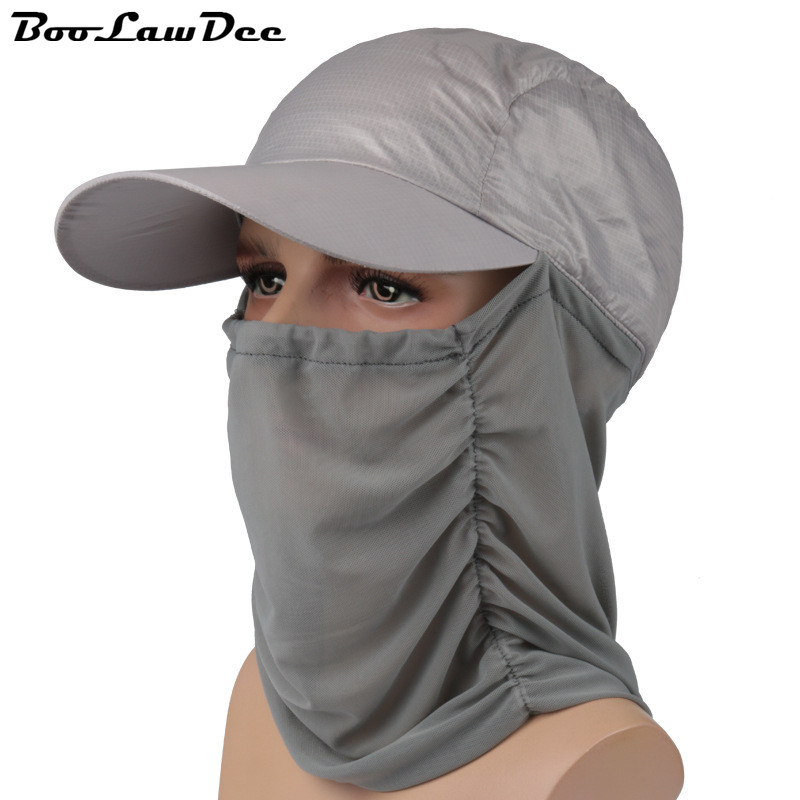 BooLawDee Spring and summer leisure beanies neck protection sunscreen hooded lightweight breathable long visor cap unisex 4F017Одежда и ак�е��уары<br><br><br>Aliexpress