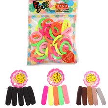 40pcs New Fashion Scrunchy Children Elastic Rubber Bands Black Hairbands Hair holders Accessories For Girl Bandage Head Kids Gum(China)