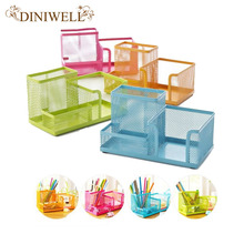 DINIWELL New Metal Desktop Storage Box Organiser Drawer Pen Card Office Stationery Holder Home House Desk Zakka Organizer