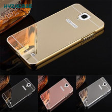 Mirror Case For Samsung Galaxy Mega i9200 Cover Housing Fashion Rose Gold Silver Black Beauty Frame 6.3 I9205 Back Shell New
