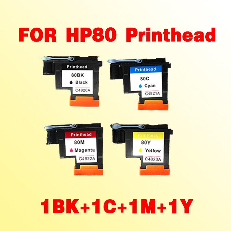 1set(1BK+1C+1M+1Y) C4820A C4821A C4822A C4823A compatible for HP80 Printhead Designjet 1000 1050c 1055cm<br>