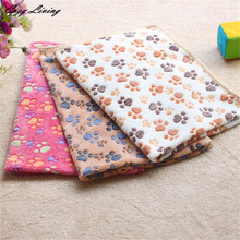 Pet Bed Blankets For Dogs 1 PC Hamsters Pad Blanket Pet Cat Mat Dog Puppy Warm Bed Paw Pattern Cover S M L XL Wholesale D28