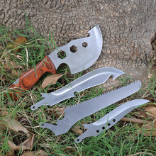 4 pieces/lot Outdoor Multi Folding Survival Tools Knife + Axe + Wrench + Saw Camping Travel Kit Tactical Hunting Knives Machete