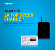 Original NILLKIN 2A Top Speed Charger AC 2A US USA Standard USB Plug Power Wall Charger Adapter For Cell Phone USB Charger