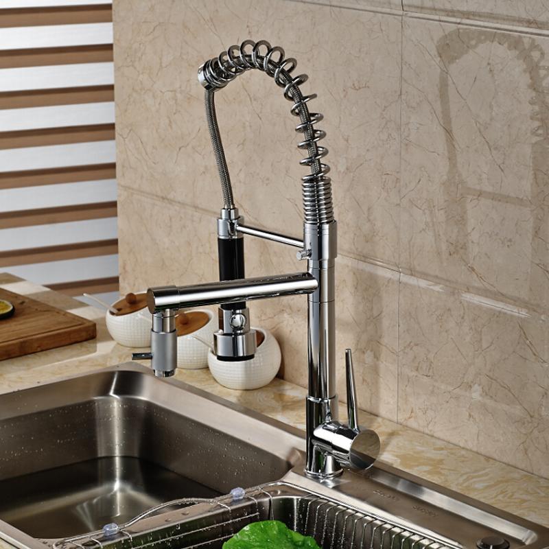 Deck-Mount-Single-Lever-Kitchen-Mixer-Faucet-One-Hole-Spring-Swivel-Spout-Mixer-Tap-Chrome-Finish (1)