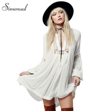 Hot sale 2017 summer chiffon beach dress casual new slim lace splice sexy dresses women lantern sleeve white women's clothing
