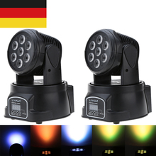 9/14 Channel Party Disco Show 100W AC 100-240V Sound Active Christmas Decorations DMX-512 Mini Moving Head RGBW LED Stage Light(China)