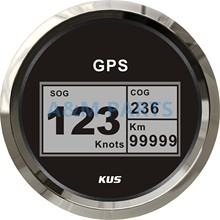 KUS Boat GPS Speedometer Electric Marine Truck Car RV Digital LCD Speed Gauge SOG COG Knots Compass With GPS Antenna 85mm(China)