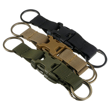 Outdoor Handy Three Snap Buckle Military Nylon Key Hook Webbing Molle Buckle Outdoor Hanging Belt Clip Kits My Urban 20X16cm(China)