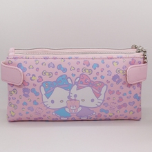 High quality PU 2017 NEWS hello kitty wallet female cartoon long wallet very cute womens purse color is pink