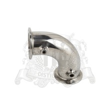 "1,5"" - 4"" Tri-clamp elbow 90 degree bend pipe with thermowell 4.2mm and 6,2mm . Stainless steel 304(China)"