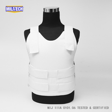 Militech White NIJ IIIA 3A and Level 1 Stab Concealable Aramid Kevlar Bulletproof Vest Covert Ballistic Bullet Proof Vest(China)