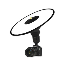 "16.7""/42cm Collapsible Beauty Dish Flash Diffuser for Speedlite Studio Portrait Catchlights Lightweight Photographic Equipments"
