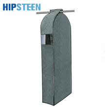 HIPSTEEN 3 Sizes Bamboo Charcoal Non-woven Hang Dustproof Clothes Storage Bag Garment Suit Coat Dust Cover  - Grey
