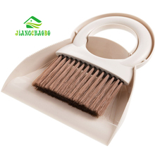 JiangChaoBo Mini Broom Dustpan Set Desktop Cleaning Small Broom Household Bucket Broom Brush Comb Combination(China)