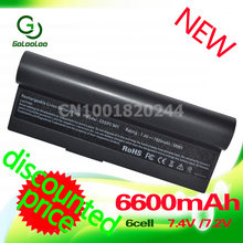 Golooloo 6600mAh black  laptop battery for Asus Eee PC EPC 901 904HD 1000H 1000 1000HD  870AAQ159571 AL23-901 AL24-1000 AP23-901