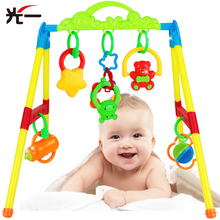Multifunctional Fitness Frame Train Grasping Toy Newborn Baby Educational Fitness Rack Rattle Toys Baby Rattles Toys