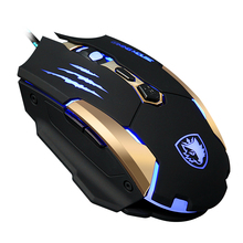 2016 new  Q6 wired desktop metal mouse 3500dpi 6 key USB gaming mouse for PC CF