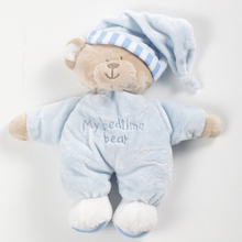 New arrival Appease Baby Toys Plush Doll Sleeping Bear Stuffed Peluche Kids Baby Sleep Toys For Children Comforting doll with(China)