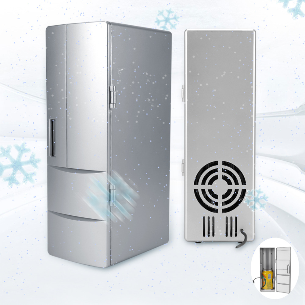 Fridge Freezer Cooler-Warmer Refrigerator Icebox Car Beer Drink Travel Mini-Usb Portable title=