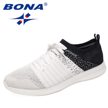 BONA New Popular Style Men Running Shoes Lace Up Mesh Upper Sport Shoes Outdoor Walking Sneakers Athletic Shoes Free Shipping