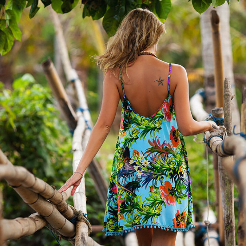 LASPERAL Summer Dress 2017 Female Women Dress Summer Style Vestido De Festa Sundress Plus Size Women Clothing Robe Beach Dress 6