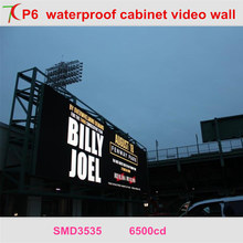 Most popular P6 smd waterproof screen widely used in outdoor advertisement ,shop signs ,video wall ,square(China)