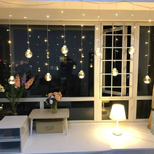 Led curtain icicle fairy ball string wishing lights party holiday room garden porch christmas bar wedding decoration lights(China)
