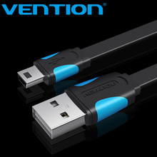 Vention Mini USB Cable Mini USB to USB Fast Charging Data Cable For Cellular Phone Digital Camera HDD MP3 MP4 Player Tablets GPS(China)