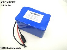 VariCore 24V 8Ah 6S4P 18650 Battery li-ion battery 25.2v 8000mAh electric bicycle moped /electric/lithium ion battery pack(China)