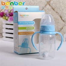 Feeder Handle Kids Cup Infant Standard CaliberMilk Water PP Baby Bottle 120ml Infant Product Sippy Baby Feeding Nuk Bottle Cup