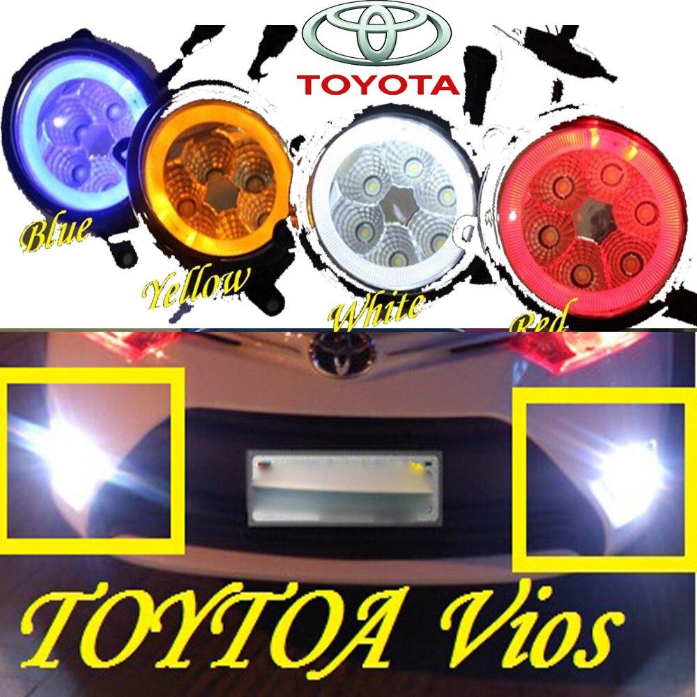 Car-styling,EZ daytime lamp,chrome,LED,Free ship!2pcs,Vios fog lamp,car-detector,Previa,EZ,E Z;Option:Red,white,blue,yellow<br>