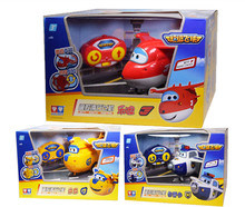 3 Styles Super Wings Remote Control Action Figure Mini Models ABS 14cm Deformation Airplane Robot Transformation toys for boys