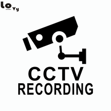 Creative Cartoon Security Camera Vinyl Wall Sticker Shopping Mall Decorated Window Decal(China)