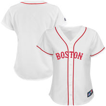 MLB Women's Boston Red Sox White Replica Jersey(China)