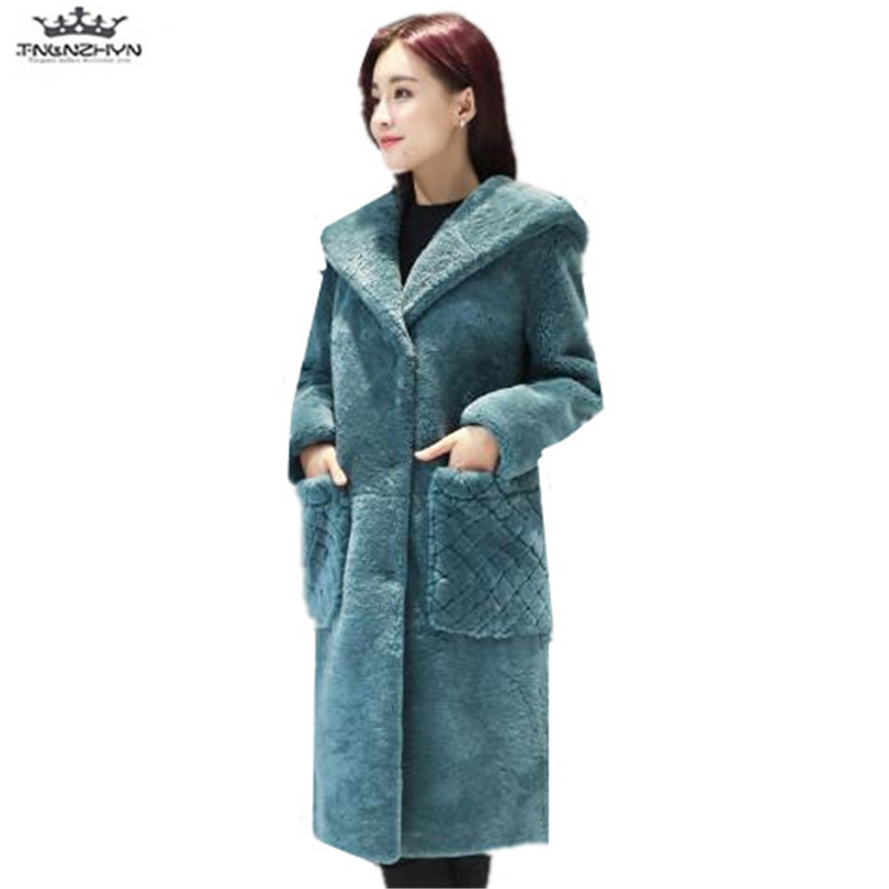tnlnzhyn 2019 New Winter Women Coats And Jackets Women Thick Warm Hooded Down Cotton Jacket Medium long Outerwear Y872