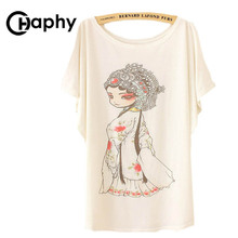Women Tops Chinese Beijing opera Print T shirts 2017 Fashion Summer t shirt Camisetas Mujer Clothing Plus Size Harajuku T Shirts(China)