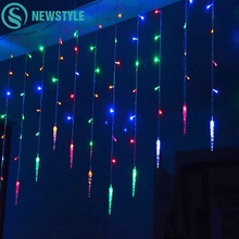 Holiday Lighting 3.5M 96 LED Icicle Home Xmas Decoration Christmas Lights Outdoor Waterproof Fairy Curtain String Lights(China)