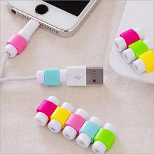 50pcs/lot Fashion USB Cable Earphones Protector Colorful Cable Saver For Apple Iphone 4 5 5s 6 6s Plus 7 For Android HTC Huawei