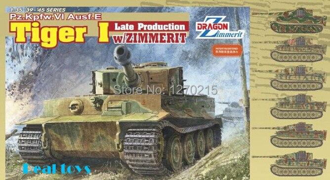 Dragon model 6383 1/35 Pz.Kpfw.VI Ausf.E Tiger I Late Production w/Zimmerit plastic model kit<br><br>Aliexpress