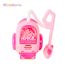 Toys For Children Pretend Play Miniature Simulation House Appliance Pink Vacuum Cleaner Plastic Electronic Classic Kids Xmas Toy