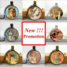 Buy NS-00573 New Fashion Alfons Mucha Necklace Alphonse Mucha Jewelry Glass Dome Pendant Necklace HZ1 for $1.13 in AliExpress store