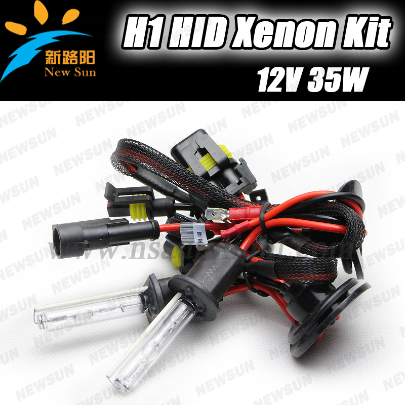 hid xenon kit 12v 35w ballasts single beam auto headlight car lamp H1 6000k white hid conversion kit H7 H3 H8 H9 H11<br>