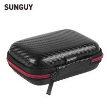 Cellphone Accessories Portable Carry Case Hard EVA Anti-knock Storage Box for Cellphone Chargers Cables Earphones and More Black